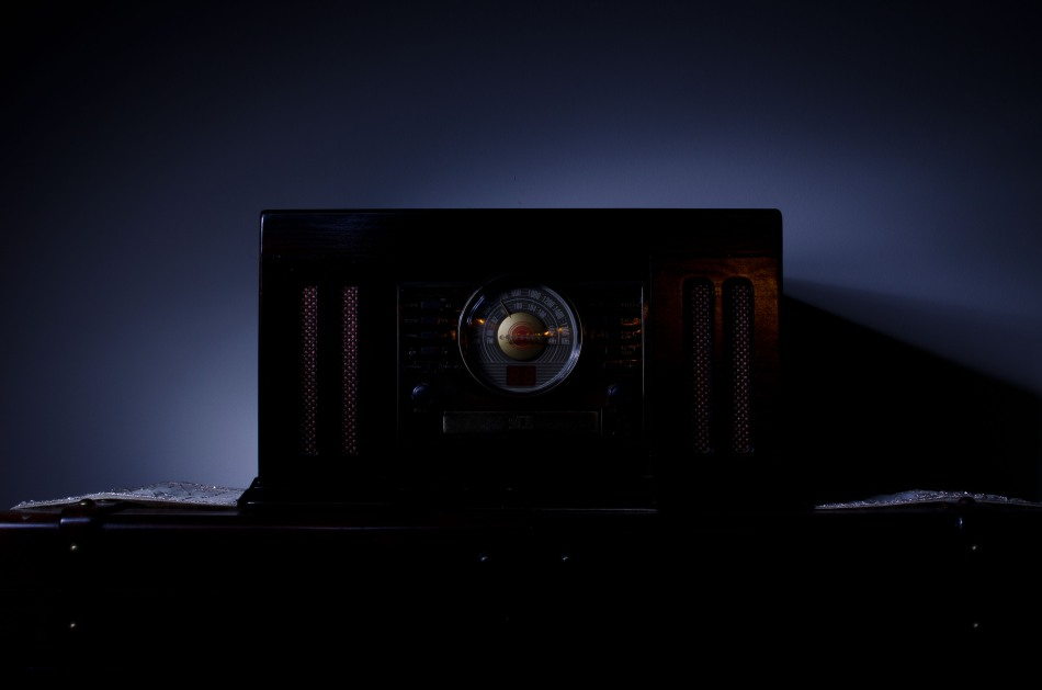 light painting photography - record player
